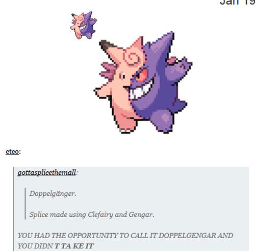Pokémon,clefairy,gengar,Doppelgänger