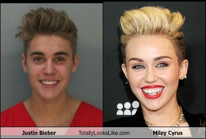 totally looks like miley cyrus justin bieber - 8018420480