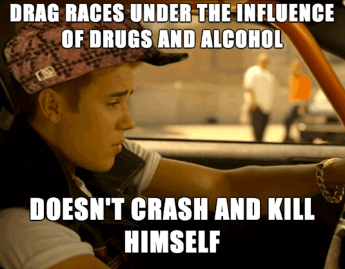 scumbag arrests paul walker drag racing justin bieber - 8018458368