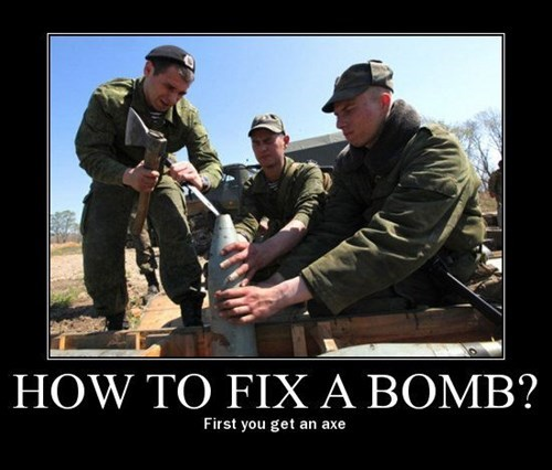plan,good idea,bomb,axe,funny