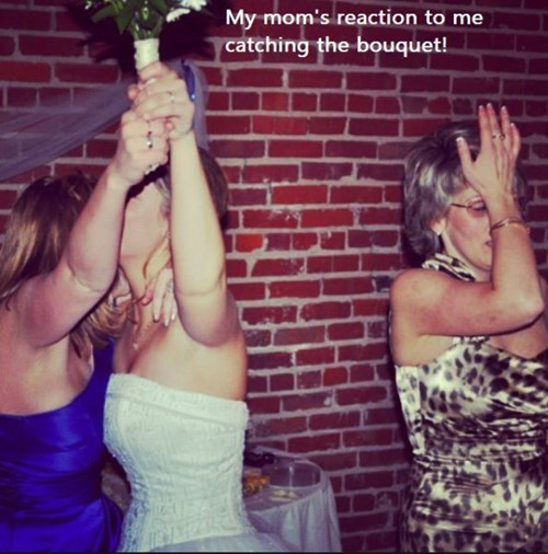 catching the bouquet moms daughters parenting weddings - 8018643968