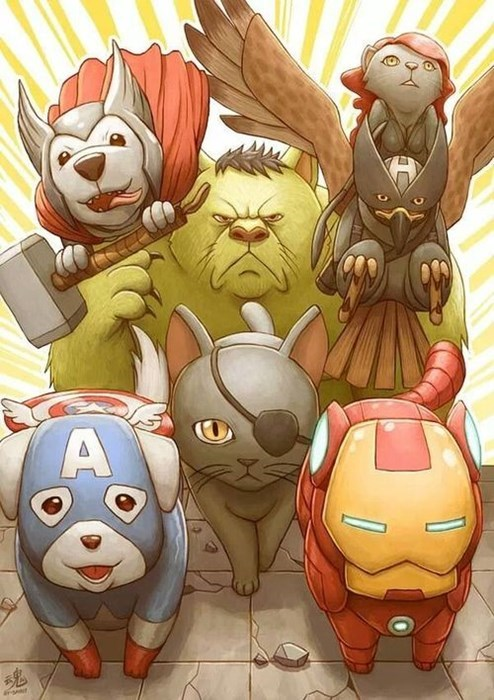 Cats animals avengers - 8018823424