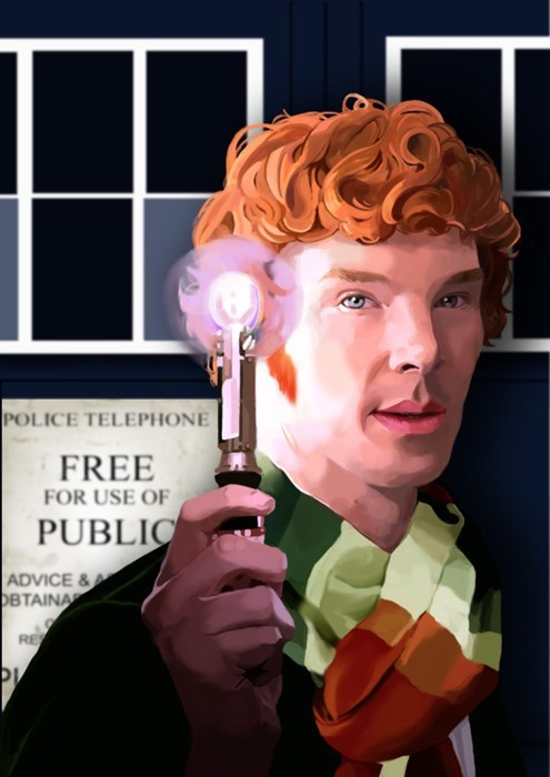 doctor who,benedict cumberbatch,Fan Art
