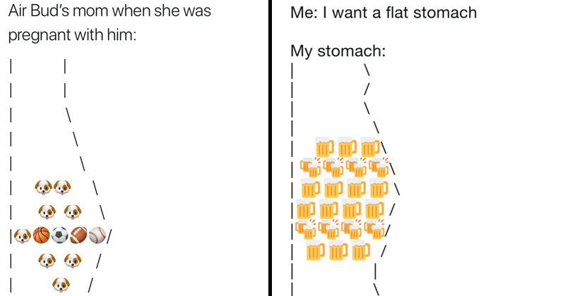 Funny meme about stomachs.