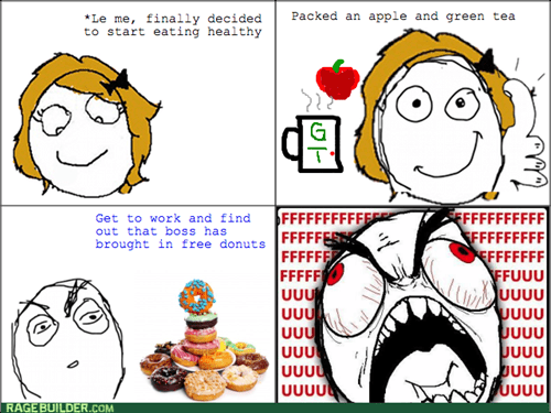 doughnuts,rage,work,food