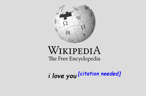 Text - Ω И 維 WIKIPEDIA The Free Encyclopedia i love you [citation needed]