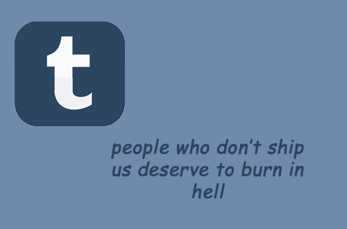 Text - t people who don't ship us deserve to burn in hell
