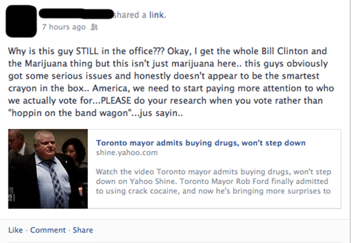 america toronto rob ford failbook