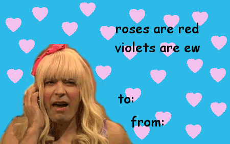Pink - roses are red violets are ew to: from:
