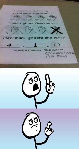 homework,school,can't argue with that,ghosts,logic