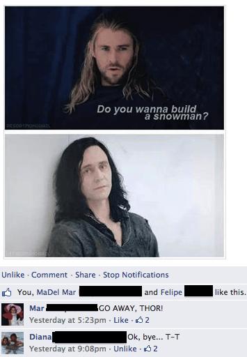 loki,Thor,facebook,frozen