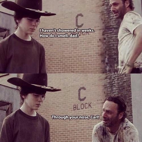Rick Grimes dad jokes carl grimes walking dad - 8020761600