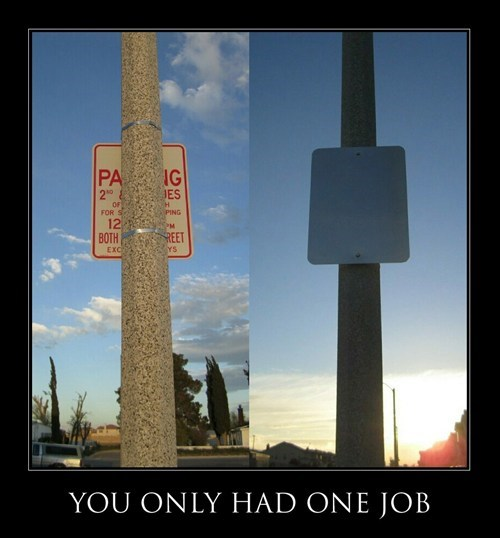 funny idiots parking sign