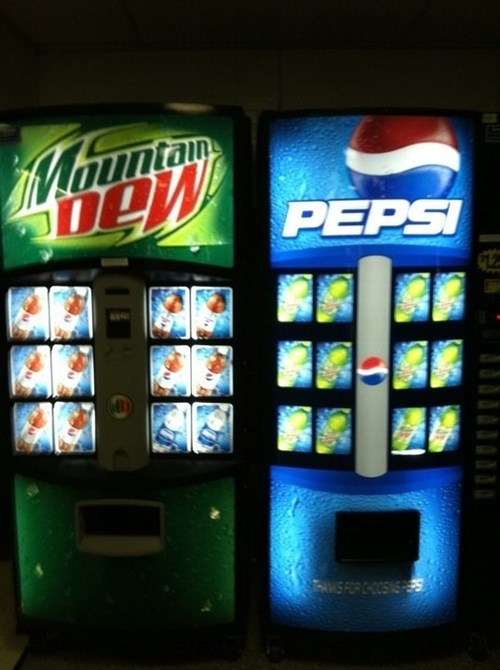pepsi,vending machines,mountain dew