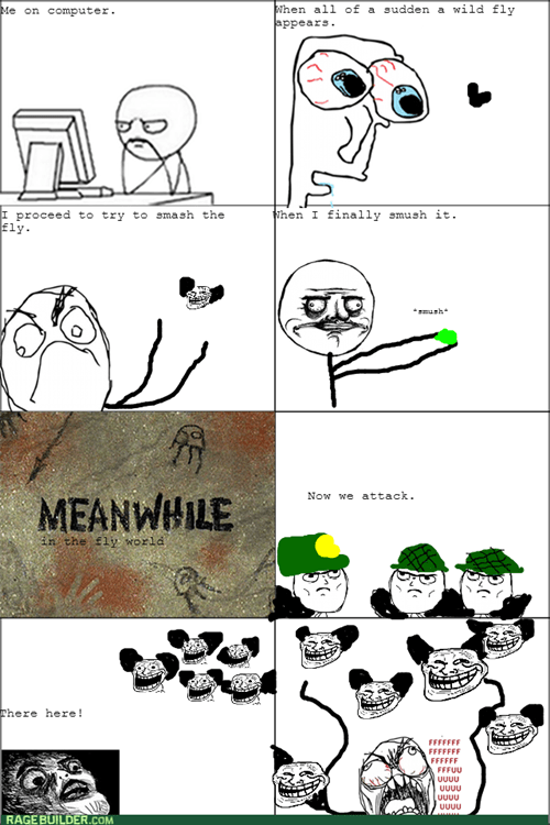 computer guy flies me gusta trollface - 8023249664