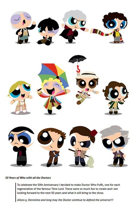 doctor who Fan Art powerpuff girls - 8023536896