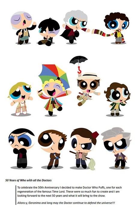 doctor who Fan Art powerpuff girls - 8023536896
