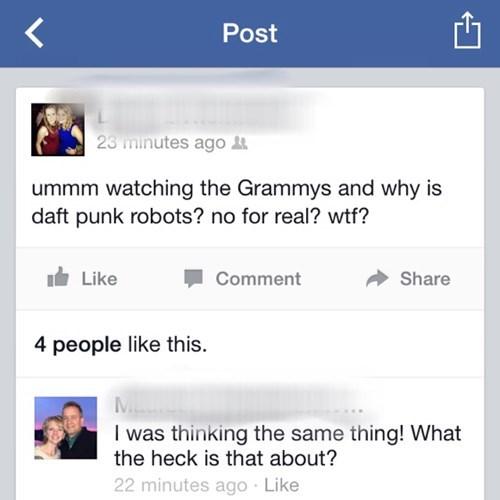 daft punk,Music,robots,grammy's