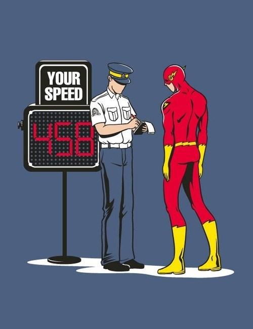 law breaker the flash speeding ticket - 8023909888