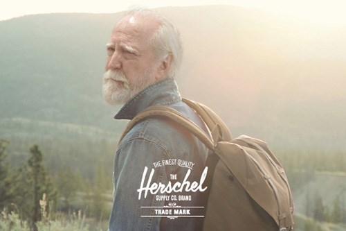 Ad,hershel greene,herschel backpacks