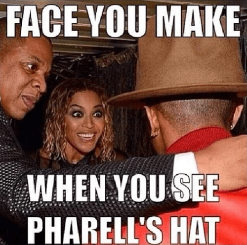 Music,list,2014 grammys,beyoncé,totally looks like,pharrell's hat
