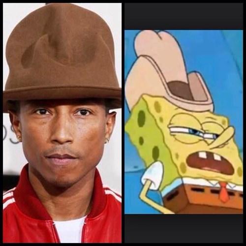 pharrell poorly dressed SpongeBob SquarePants Grammys hats - 8024784896