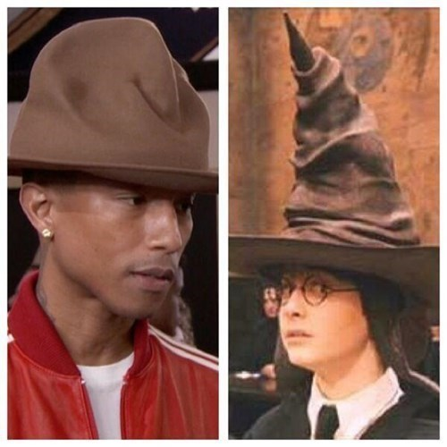 pharrell,Harry Potter,Grammys,grammys 2014,pharrell's hat