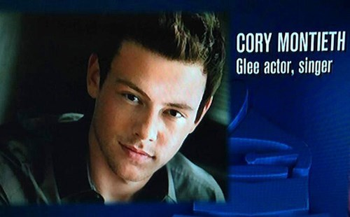 cory monteith,spelling,whoops,grammy's,g rated,fail nation