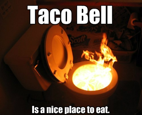 Taco Bell Is a nice place to eat.