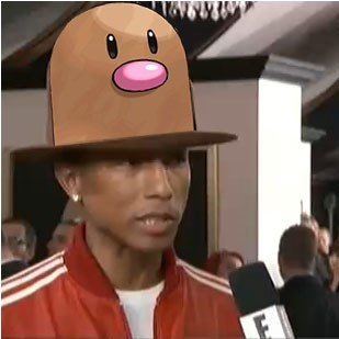 diglett diglett wednesday pharrell 2014 grammys pharrell's hat - 8024871680