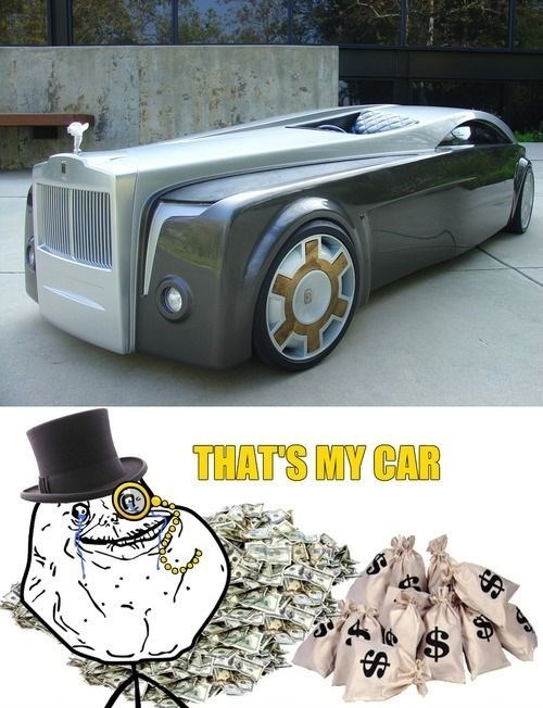 forever alone,cars,money