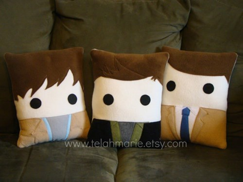 etsy dean winchester sam winchester throw pillows castiel - 8025012224
