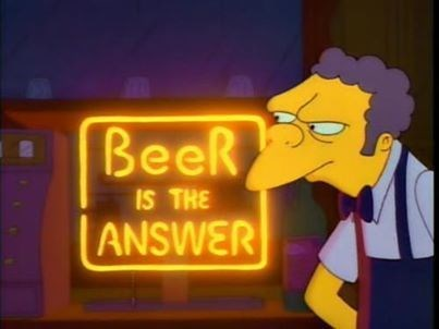 question beer answer moes simpsons funny - 8025060352