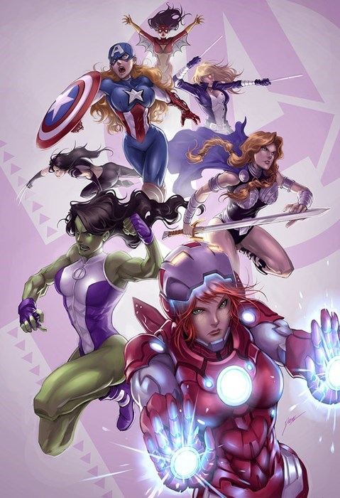 Fan Art marvel ladies avengers - 8025093120