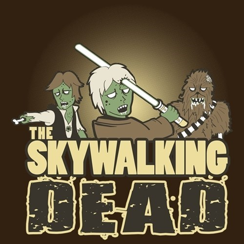 star wars luke skywalker mash up The Walking Dead - 8025098496