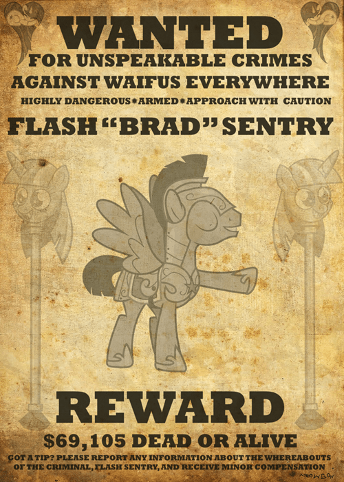 waifu wanted poster flash sentry - 8025100032