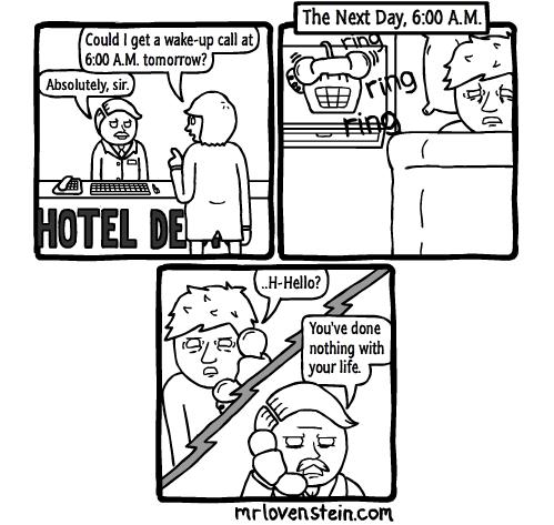 hotel,wake up,web comics