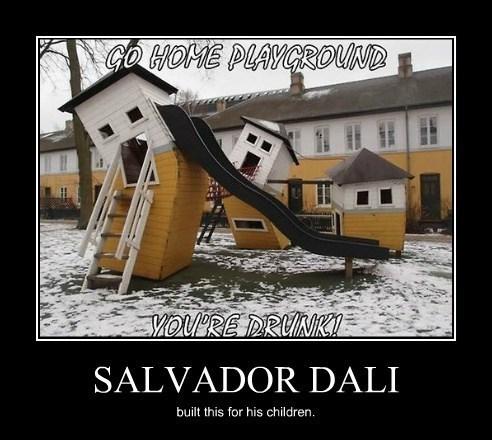 kids,funny,playground,salvador Dali