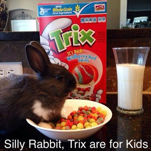 cereal kids rabbits TV trix - 8025204992
