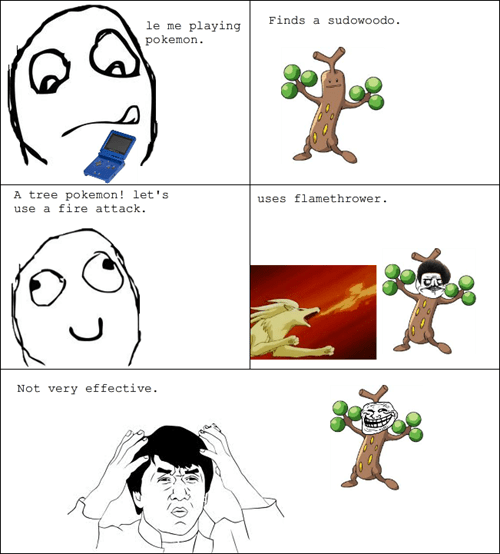 trollface Pokémon not very effective Rage Comics - 8025888768