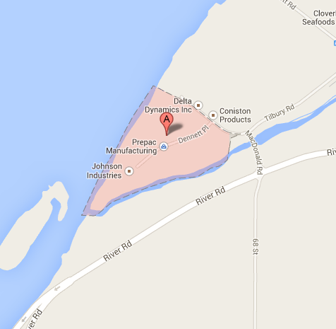 delta,Canada,tilbury island,postal code