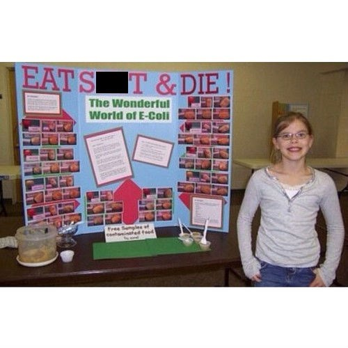 poop science fair ecoli funny - 8026308352