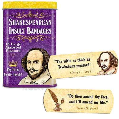 sick burn,bandages,shakespearean insult bandages,burn