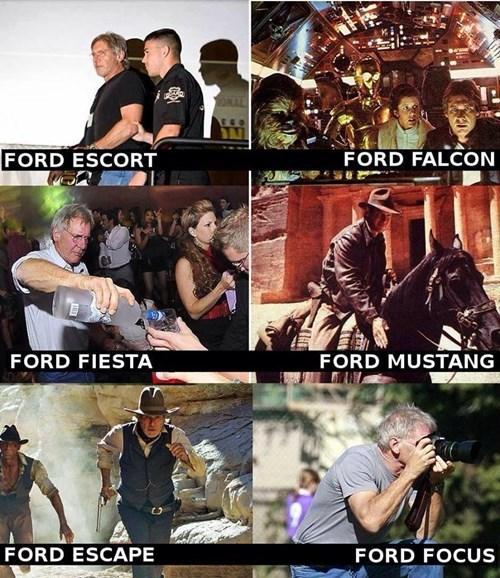 star wars Indiana Jones movies puns cars Harrison Ford - 8026355968