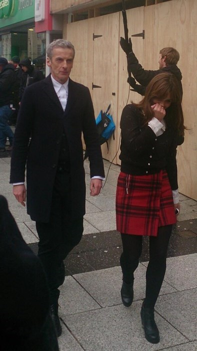 behind the scenes 12th Doctor clara oswald - 8026386944
