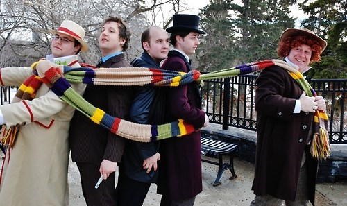 scarf classic who cosplay 10th doctor 11th Doctor - 8026455296