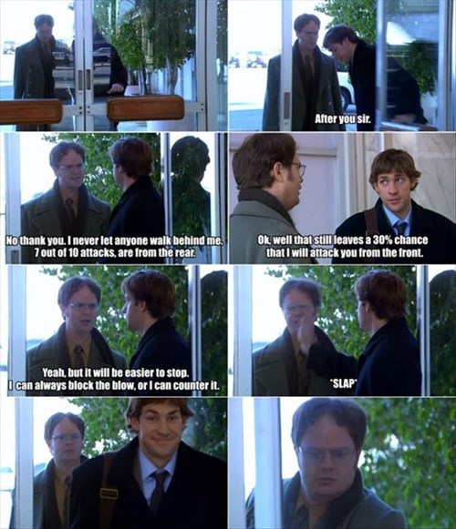 the office attack dwight funny Statistics - 8026531584