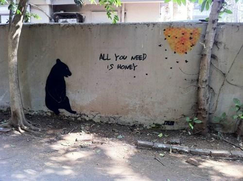 Street Art,bears,graffiti,hacked irl