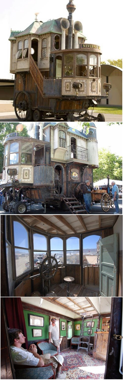 mobile home,Steampunk,design,g rated,win