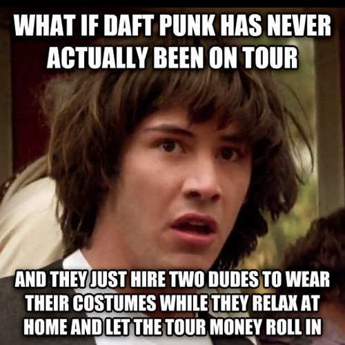 Music conspiracy keanu daft punk